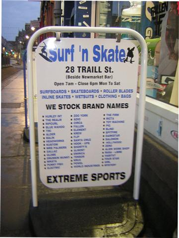 Cj Strain And Son Shop Signs For Newsagents Pavement Signs